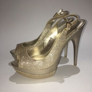 Barkers Gold Sparkly Heels